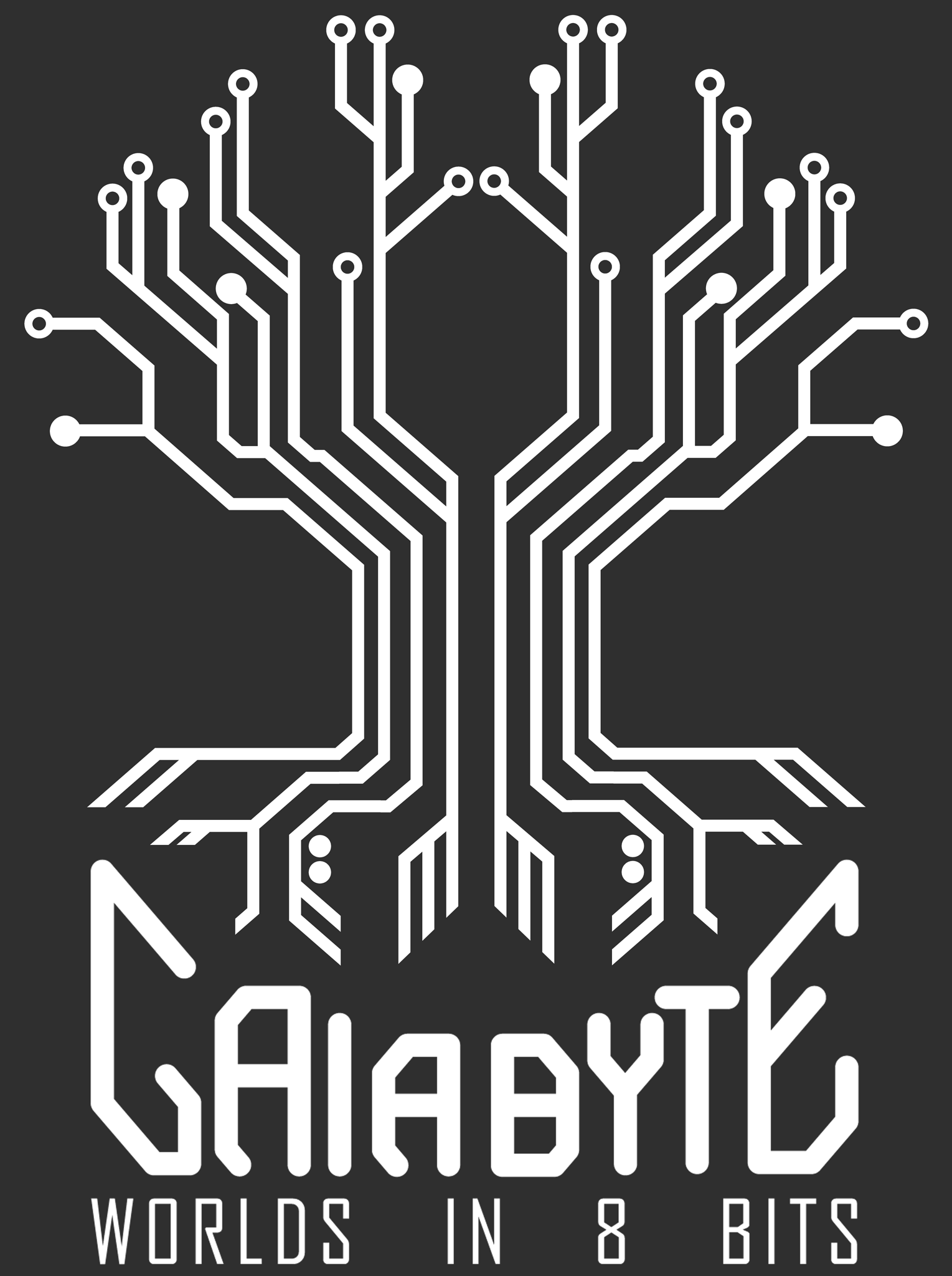 GaiaByte logo tree formed by 8 circuits
